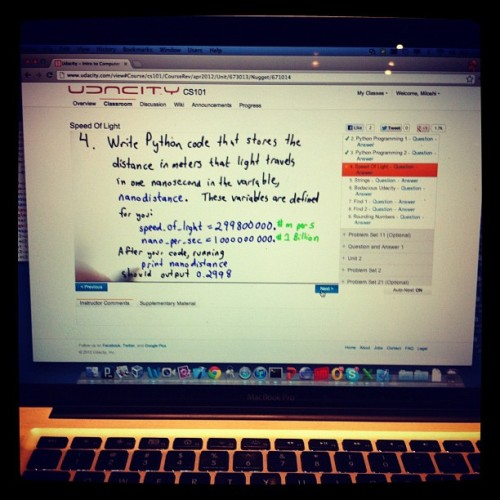 My first python class!  (Taken with Instagram)