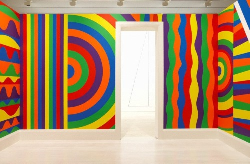 Sol LeWitt, Wall Drawing #1091: Arcs, Circles, and Bands (Room), 2003.