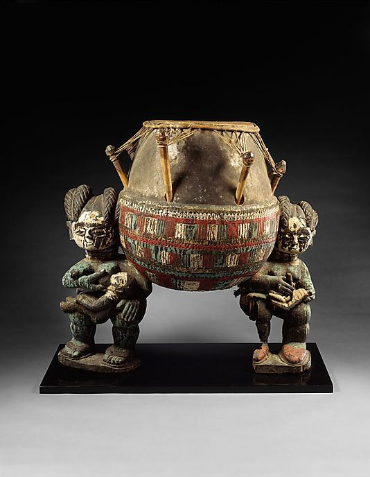 "collective-history:  Ashanti Drum ca. 20th century Among the Asante and other peoples of West Africa, the nurturing presence of the ""mother drum"" echoes the role of the female as lineal head.  Met Museum"