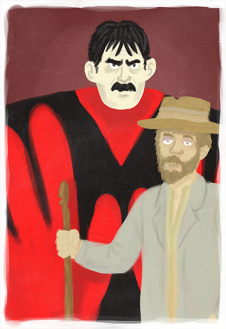 elektrotacker:  MST3K: Manos: The Hands of Fate by Joshua_Hollis on Flickr. here you get the full effect  The dead-eyed stare of Torgo is so perfect.