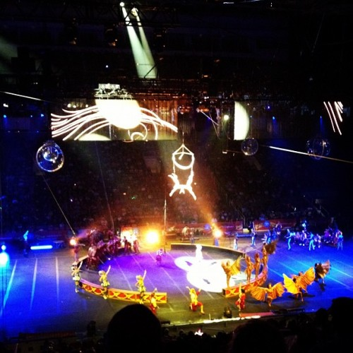 The circus is in town!  (Taken with Instagram at HP Pavilion at San Jose)