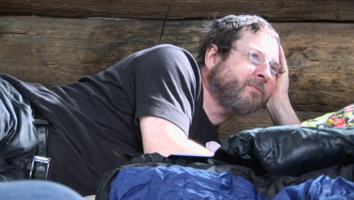Lars von Trier watching Antichrist being filmed