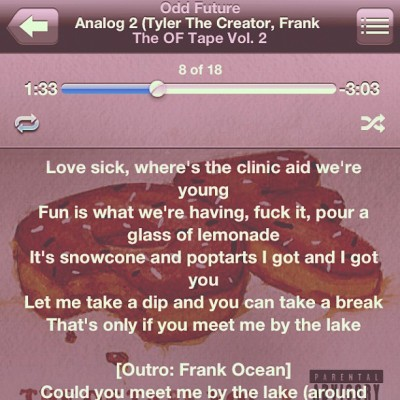 Good song #analog2 #tylerthecreator #frankocean #oddfuture #summer (Taken with Instagram)