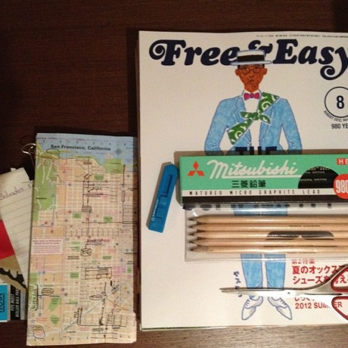 #design kit… #japan, #pencils, #magazines, #MAP #SF 🎌 💼 ® (Taken with Instagram)