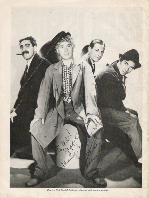 marxbrothers-ducksoup:  Four Marx Brothers, Groucho, Chico, Harpo and Zeppo