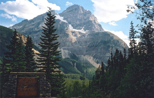 just-breezy:  Cathedral Mountain is in Yoho National Park, BC | SqueakyMarmot