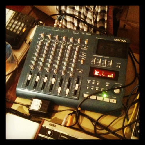 in it's right place #tascam #424mkiii #4track #gear #music #equipment #recording #retro #tape #analog (Taken with Instagram)