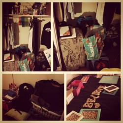 Day 16, #backtoschool #augustphotoaday #day16 #packing #crafts #newroom #cheetahprint #believe #love #toomuchstuff #secondyear #sonomastate #anotheryear #readytoleave #3day #almostallpacked #hashtagfrenzy #ilovehashtags (Taken with Instagram)
