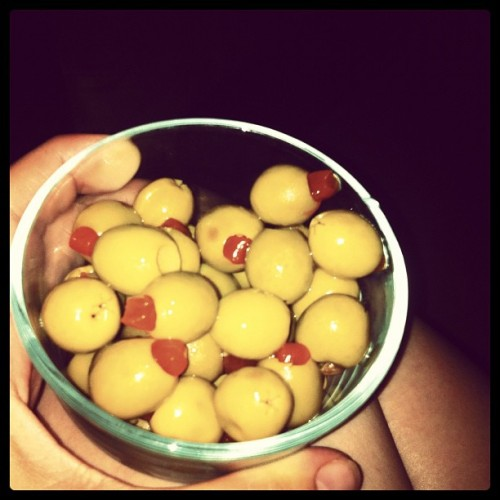 Olives #yum All I'm missing is a gin martini! (Taken with Instagram)