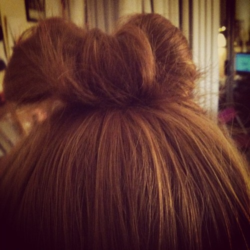 Making bows with my hair. (Taken with Instagram)