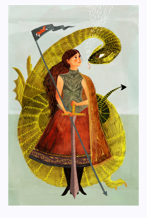 artchipel:  Sophie Blackhall-Cain | on Tumblr - Babe and her dragon