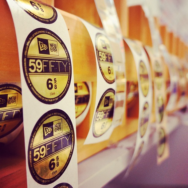 Stickers for days - classic 59FIFTY labeling at the #NewEra factory (Taken with Instagram)