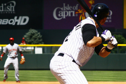 Troy Tulowitzki of the Colorado Rockies Now with a bonus Brandon Phillips's frontside