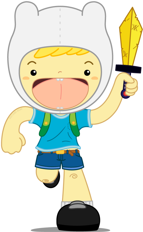 I just finish an Adventure Time fanart of Finn :) let me save it, and I'll share it with you :)!! …. ……….. …..*still saving, stupid computer*…………. Done! :D
