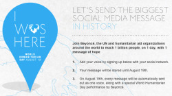 Help us reach 1 billion people on August 19! Please reblog and add your voice to a great cause…