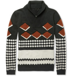 What We Want: Burberry Prorsum Intarsia Shawl Sweater via @MrPorterLive