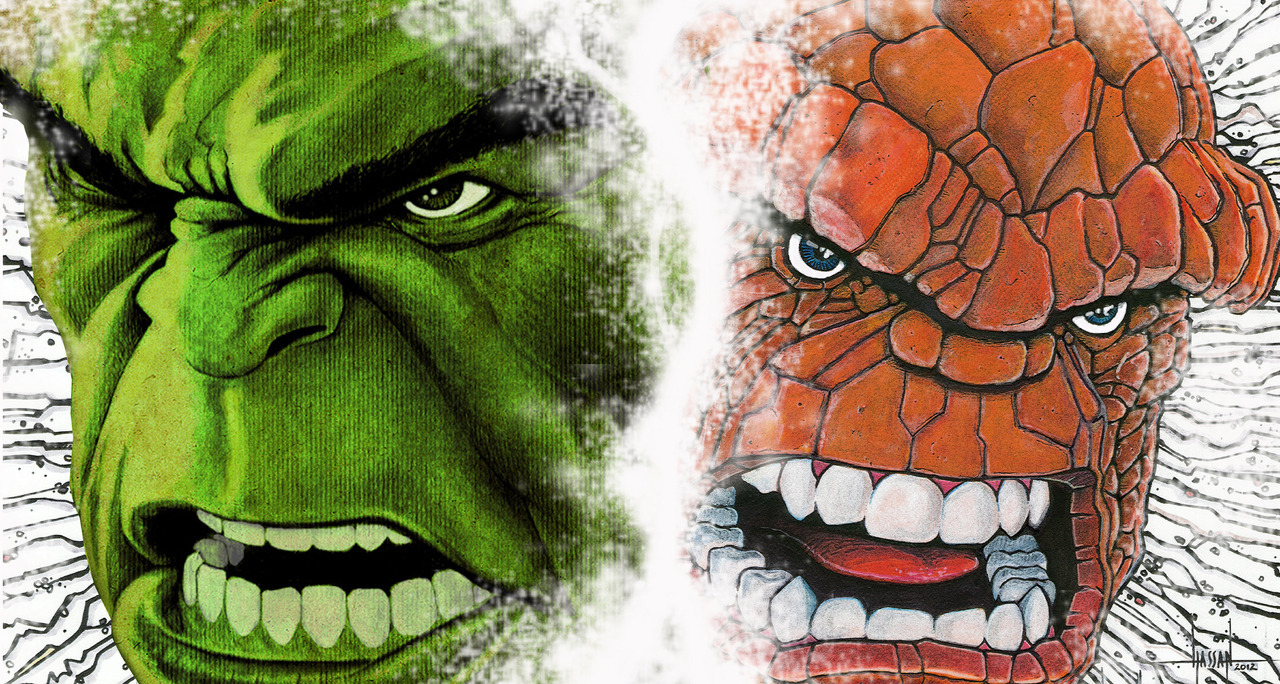 herochan:  Hulk and Thing  Created & submitted by GraphixRob Website || Deviantart || Tumblr