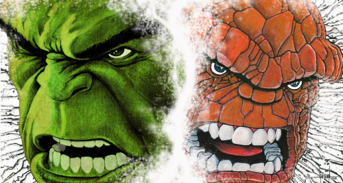 Hulk and Thing  Created & submitted by GraphixRob Website || Deviantart || Tumblr