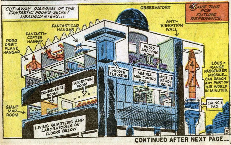 First BAXTER BUILDING isometric  from FANTASTIC FOUR #3