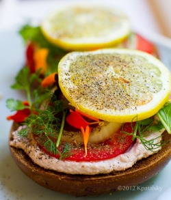 Lemon pepper summer bagel