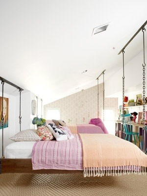 Hanging bed, so cool!