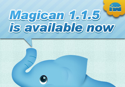 While getting feedbacks from Magican users, Magican developer are working on them. This time released the version 1.1.5.Under OS X 10.8, Magican's icon position in menu bar has been moved to the right side of time display, and may lead some mis-operation, then version 1.1.5 has fixed the bug. Besides, Magican 1.1.5 has fixed bug that may cause app updating failure in Toolbox, and bug that cause some type of computer's CPU temperature and GPU temperature could not be grabbed. Last but not the least, Magican 1.1.5 improved the uninstall feature in Software center. Although, the improvement is invisible, the related file searching would be faster. Come to try this latest Magican 1.1.5.