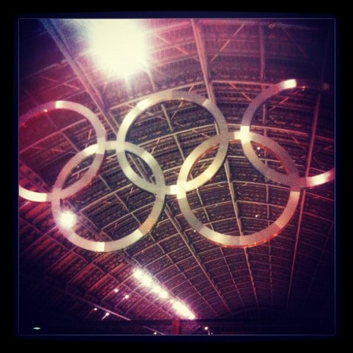 Olympic Rings at #stpancras (Taken with Instagram)
