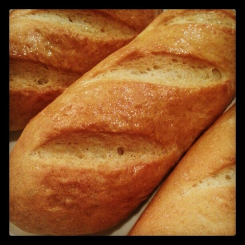 Attempted making baguette! Haha #baking #baguette #bread #latenights (Taken with Instagram)