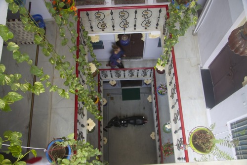 A view inside Nukkad Guest House. One of Udaipur's old havelis (mansion).