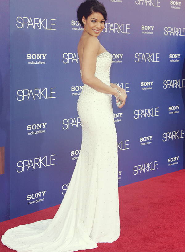 "Jordin Sparks at the premiere of her new movie ""Sparkle"" in Los Angeles"