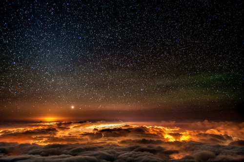 the-absolute-best-photography:  Night Sky at Haleakala by mojo2u on Flickr. You have to follow this blog, it's really awesome!