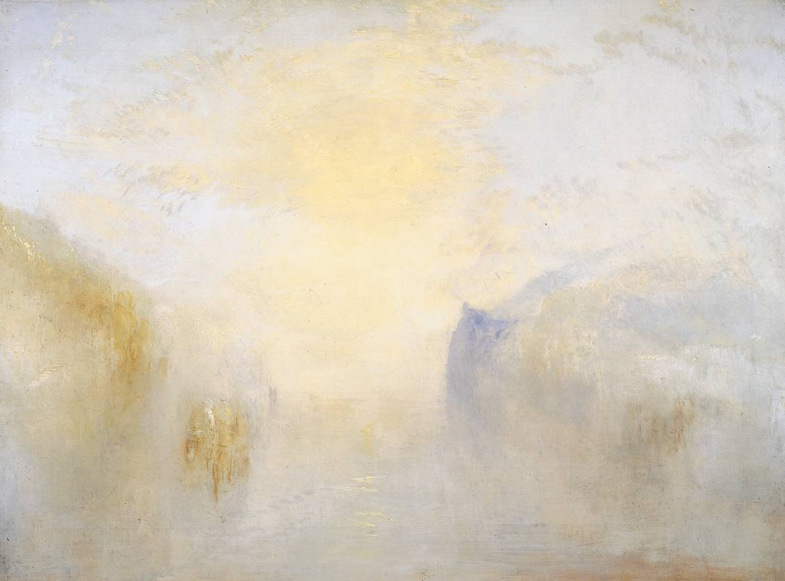 Joseph Mallord William Turner (1775‑1851)  Sunrise, with a Boat between Headlands  Date circa 1840-5   Oil on canvas