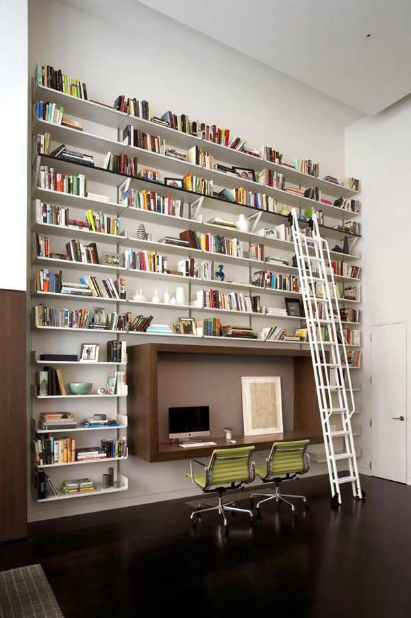 homedesigning:  Wall Bookshelf