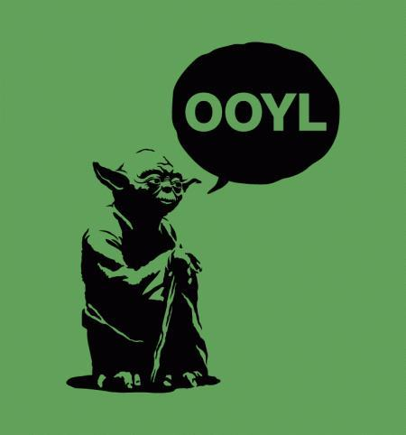"""Only once, you live."" Who doesn't love Yoda's grammar on a Friday?"
