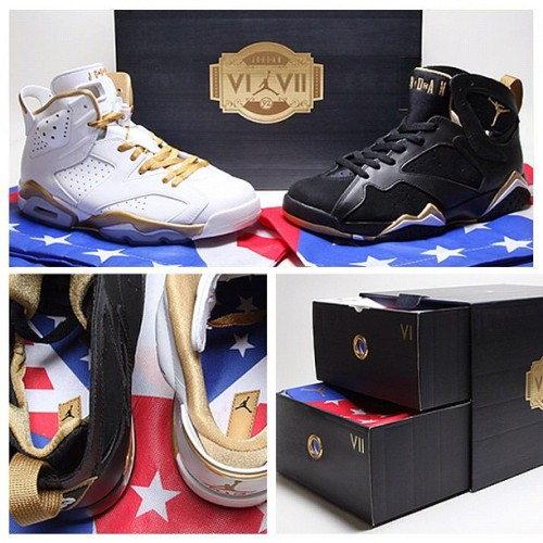 The moment is almost here. The Air Jordan 'Golden Moments' pack drops tonight at midnight! (Taken with Instagram)