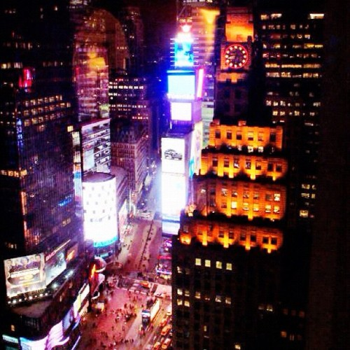 #time #square #nyc #newyork #Ariel #popular #night #citylife   (Taken with Instagram)