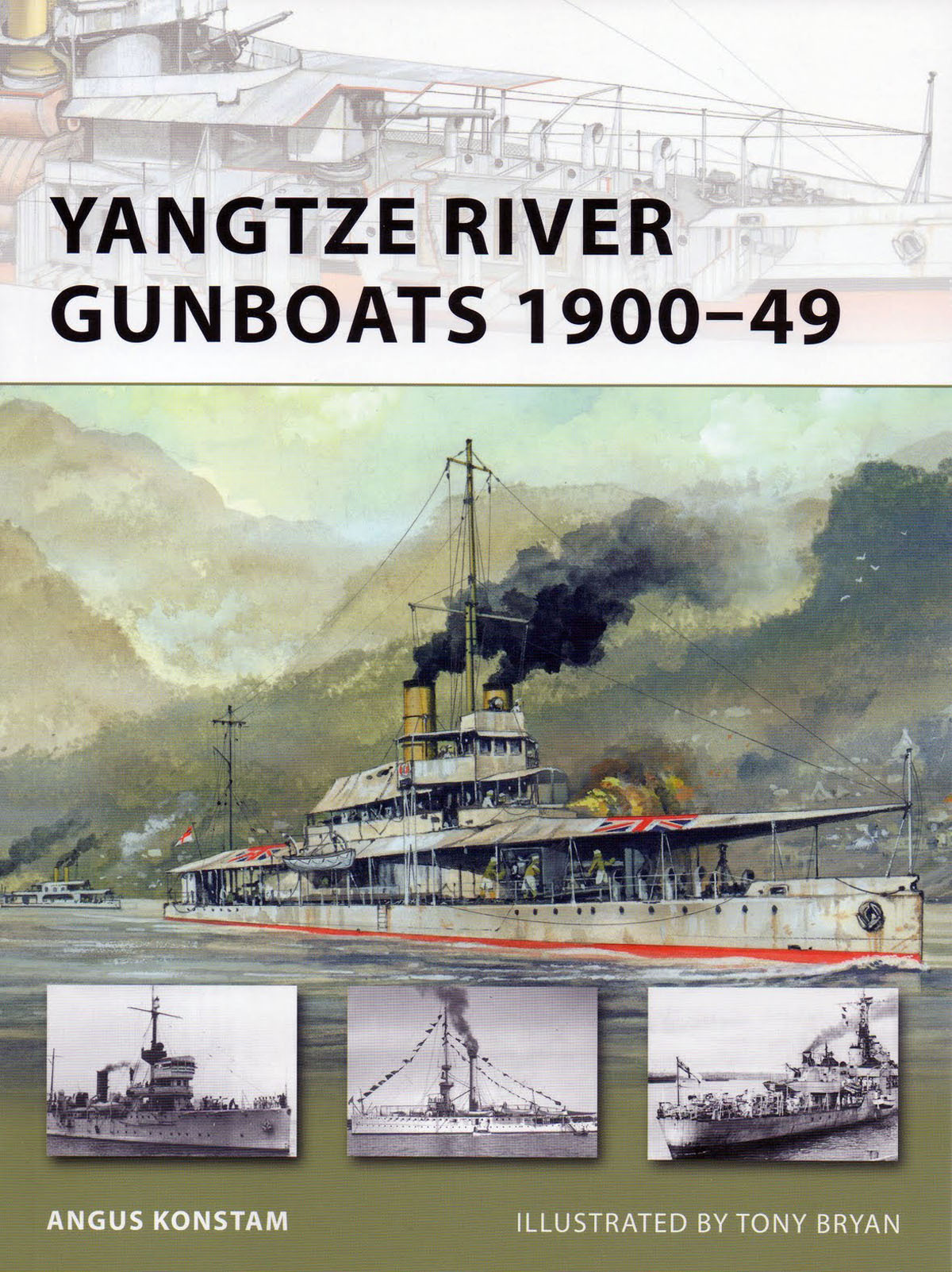 BOOK REVIEW: Yangtze River Gunboats 1900-49 By Angus Konstam, Illustrated by Tony Bryan, Osprey Publishing, Oxford, UK (2011)  Reviewed by Captain Roger F. Jones, USN (Ret) This small gem is one of Osprey's comprehensive series of books on military history, units, and warriors. Despite the date in the book's title, the history of western nations' gunboats patrolling the Yangtze River goes back to June 1858, upon signature of the Treaty of Tientsin. (read the full review)