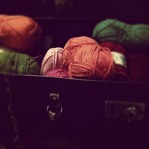 Got to love a suitcase full of yarn… (Taken with Instagram)