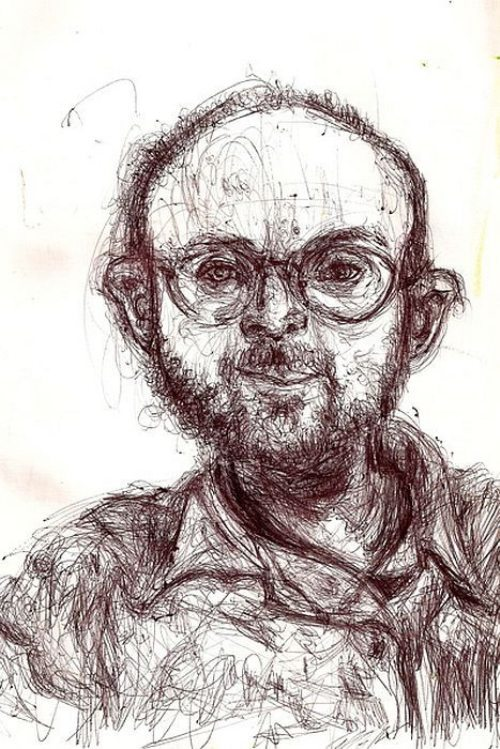 helloyoucreatives:  Artist Bryan Lewis Saunders draws self portraits under the influence of different drugs (via theChive)  Whoa!