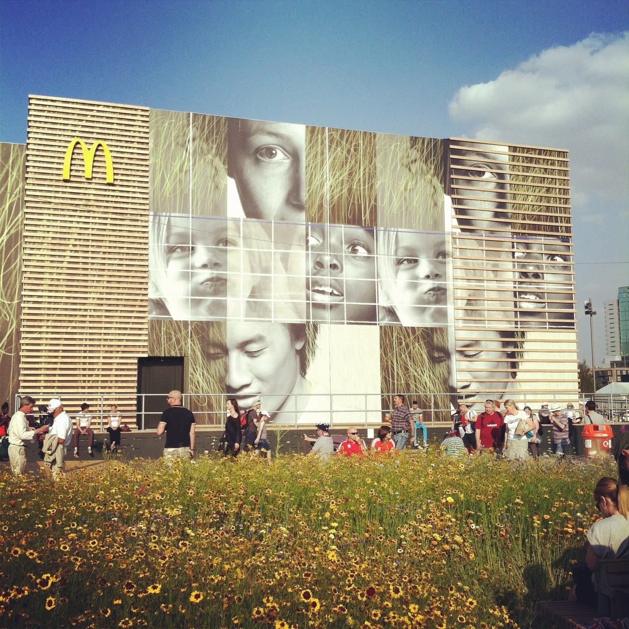 My friend Kate send me this photo from the Olympic McDonalds Do you THINK this is ME?? I cant tell hahah