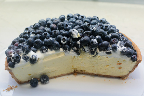 princessinhisheart:  Blueberry cheesecake (by sanmai)