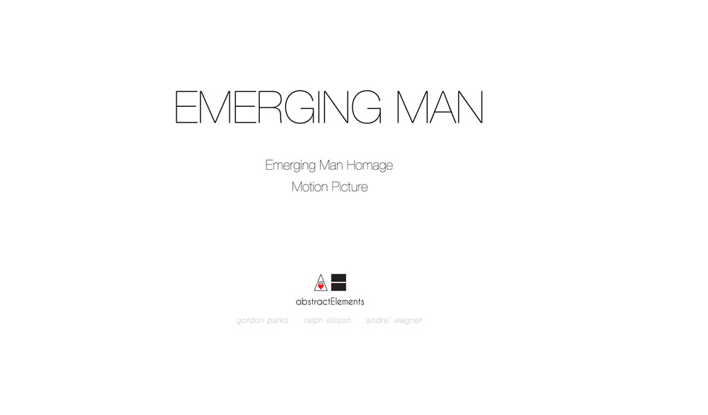 abstractelements:  Emerging Man - Personal Photo Project   Co-Sign.