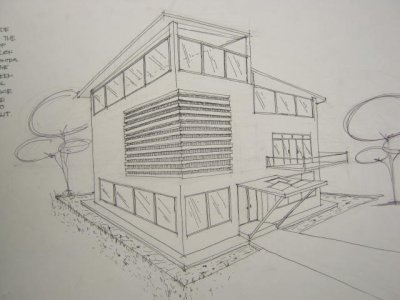 Preliminary project namin. First time kong gumawa front and side elevation view. Tae,  Epic fail pa :( Freehand dapat yan eh, kaya lang ang hirap talaga magdrawing ng straight line eh. Hahaha xD