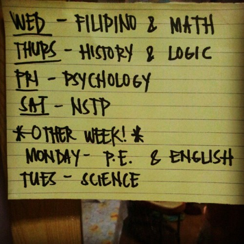 Midterm schedule! Fight! :) #midterm #exam #psychology #personal #instagrammers #instagood #instamood #instahub #igers #igdaily #school #mine #instadaily #schedule #study #Lordhelpme #ifollowbackalways (Taken with Instagram)