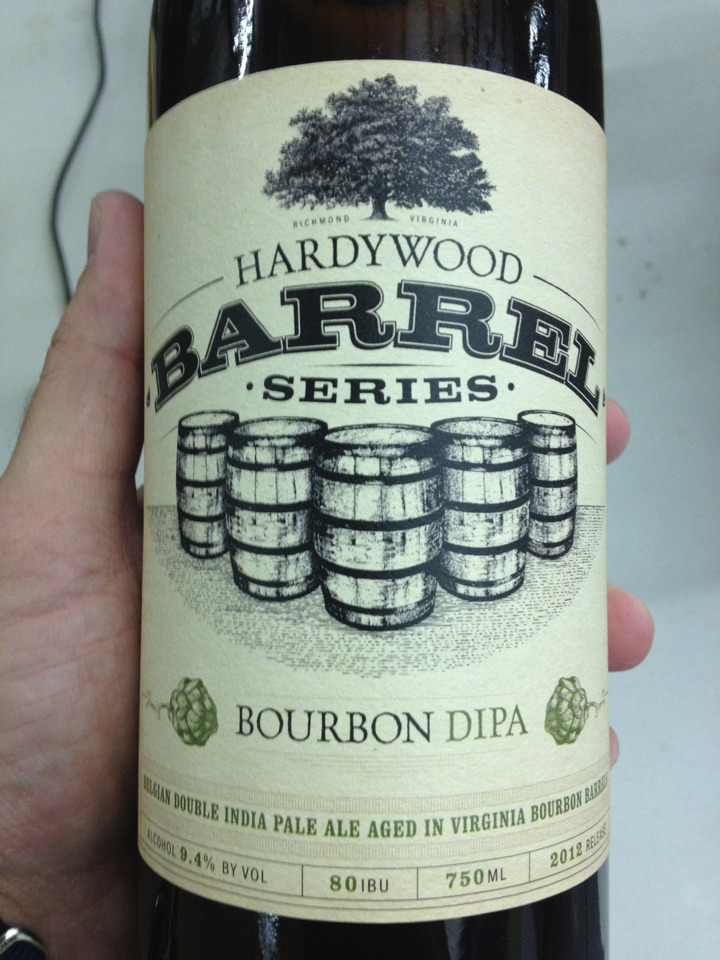 The time has come. Hardywood's Bourbon Aged Belgian Double IPA will be released this Saturday! I was lucky enough to snag a bottle last night after we closed, and it is amazing! If you're in the Richmond area, I highly recommend getting one (or three) of these. I know I'll definitely be picking up more.
