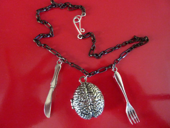 zombify:  Charm Necklace in Brains for Breakfast