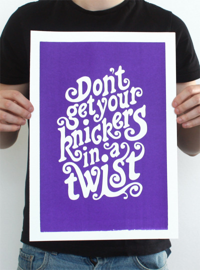 1 of 4 hand screen printed typography posters available in my store here - shjordan Submitted by ashjordandesign