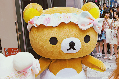 Rilakkuma at Kiddyland Harajuku (by tokyofashion)
