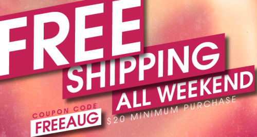 #FreeShipping @ RickysNYC.com all weekend! Just enter coupon code FREEAUG at checkout! ($20 minimum purchase)