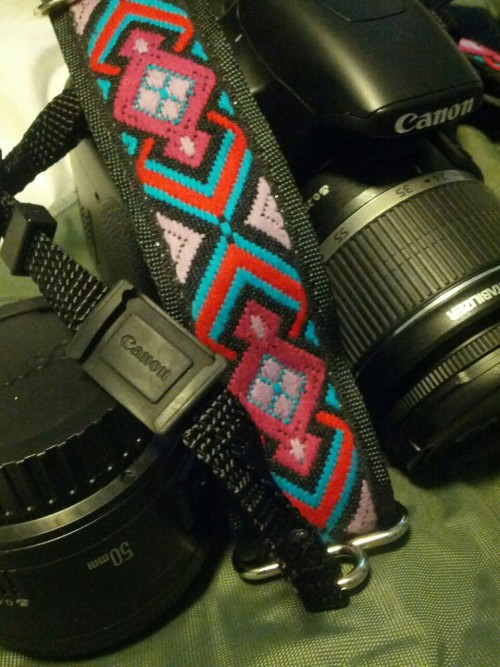 SO IN LOVE with my new camera strap that I purchased at Lolla this year. From a company called Souldier straps out of Chicago. Love love love!!!